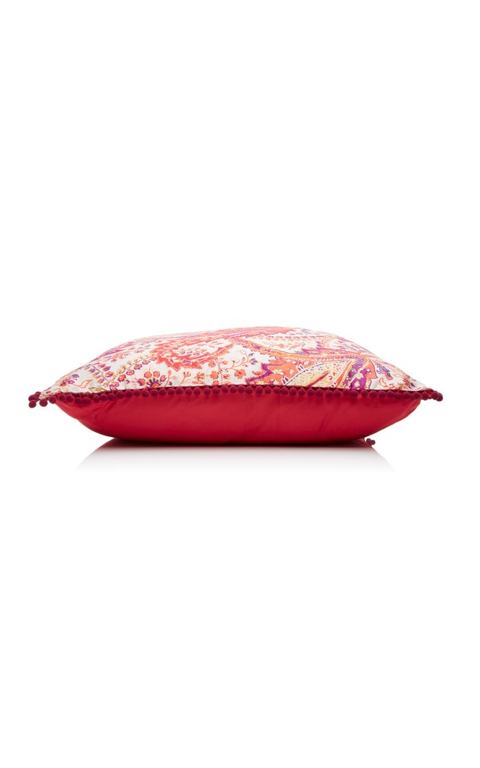 Melibea Paisley-Print Cotton Throw Pillow