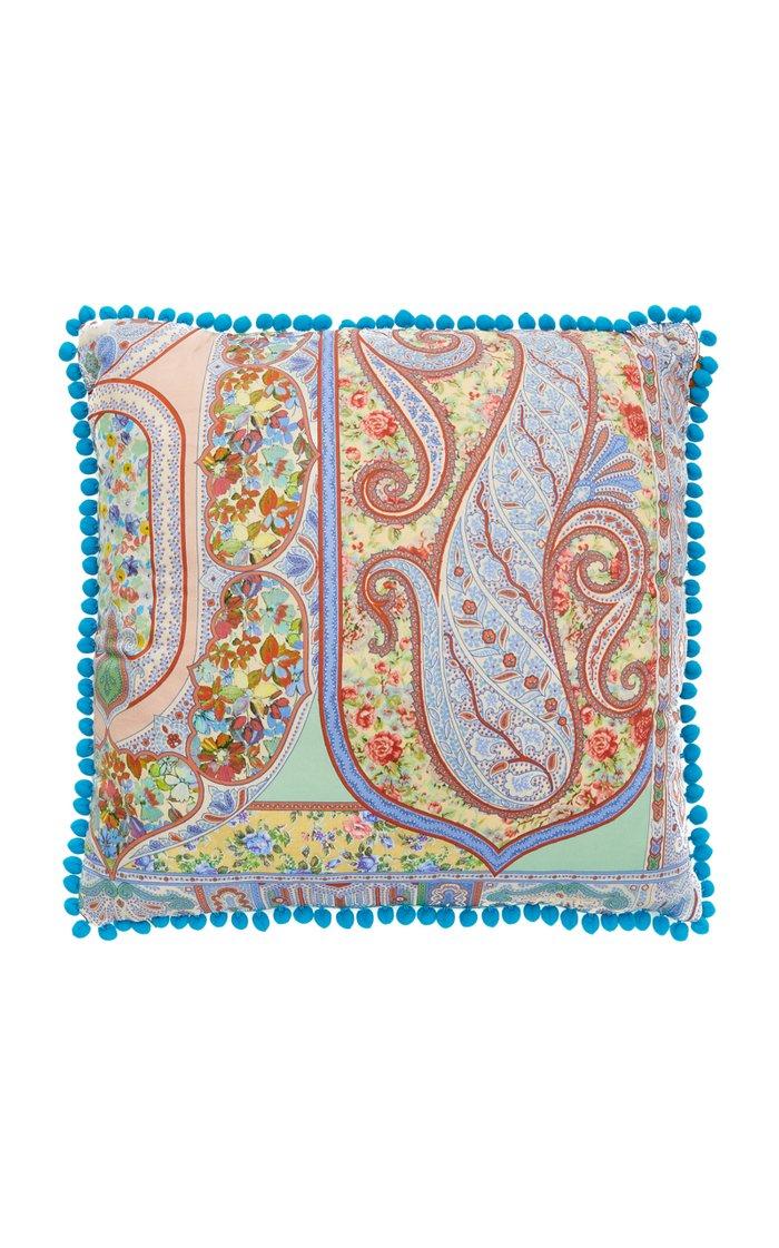 Lourmarin Paisley-Print Cotton Throw Pillow