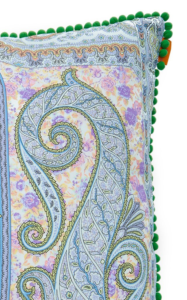Lourmarin Paisley-Print Cotton Throw Pillow