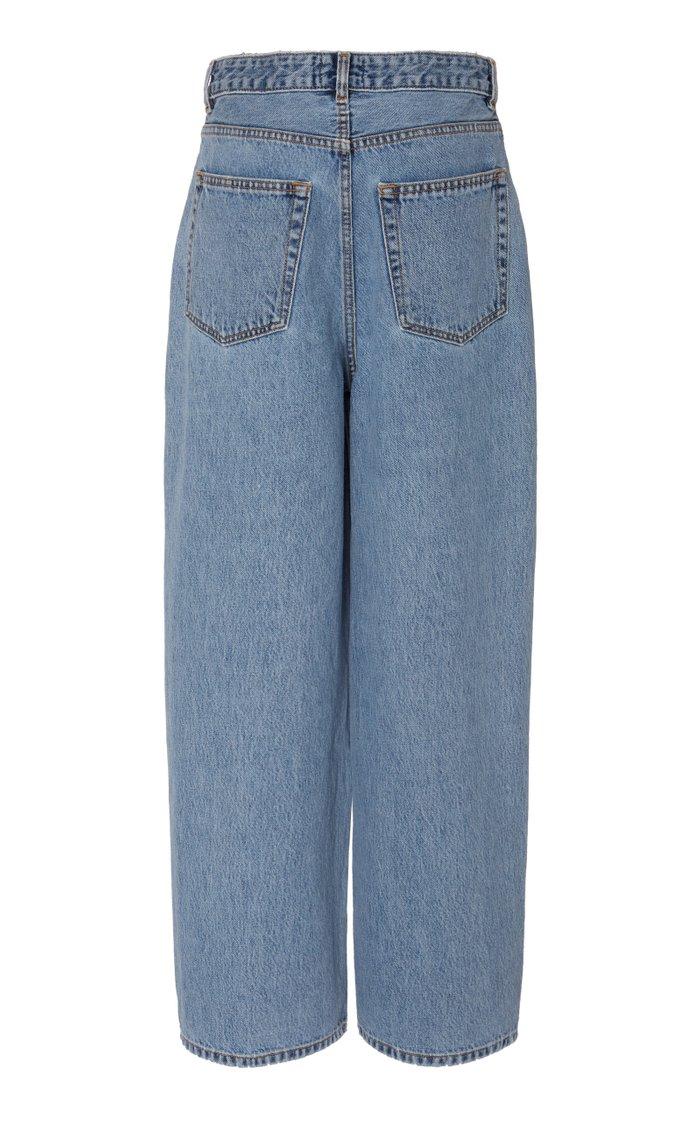 Oversized Rigid Straight-Leg Jeans