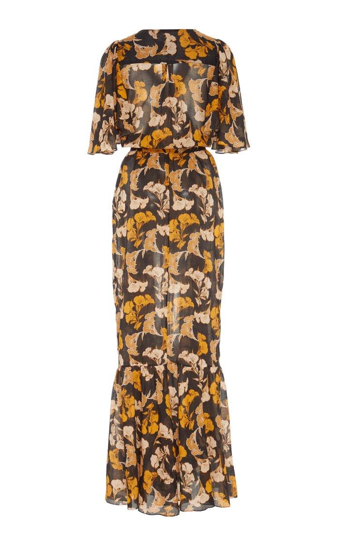 Gypset Life Floral-Print Cotton Midi Dress