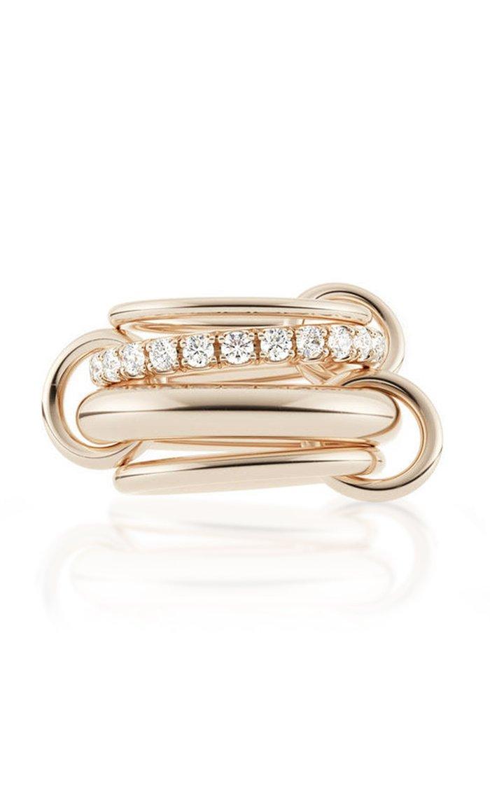 Luna Rose Linked Gold Ring