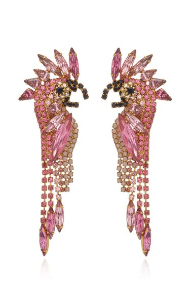 Daya 24K Gold-Plated And Crystal Earrings