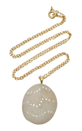 Rococo 18K Gold, Diamond And Stone Necklace