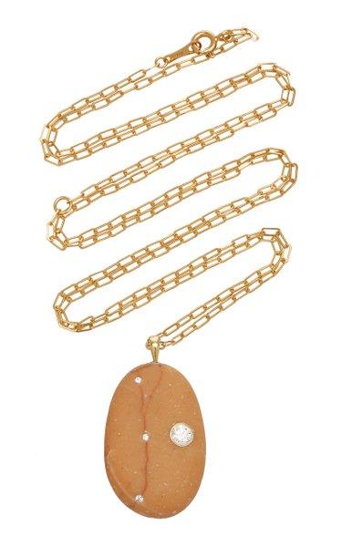 Dear 18K Gold, Diamond And Stone Necklace