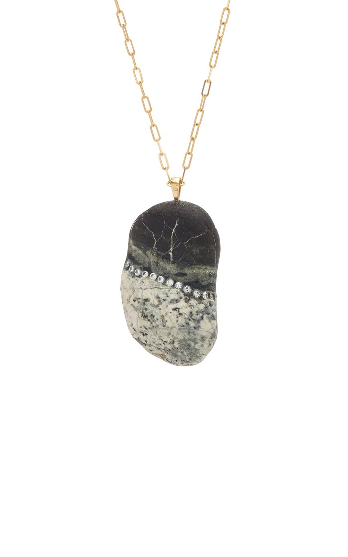 Surreal 18K Gold, Diamond And Stone Necklace