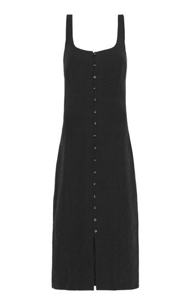 Ghita Linen-Blend Midi Dress