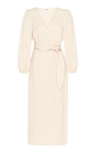 Delphine Crepe Midi Wrap Dress