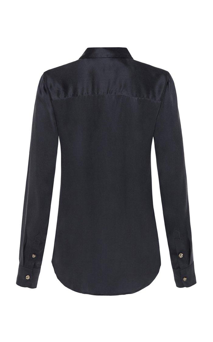 Bleu Silk Shirt