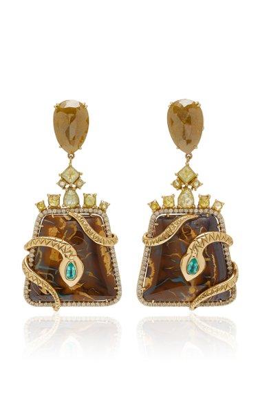 Yahwah Opal Snake Earrings