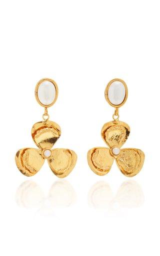 Lucky Flower Pearl Earrings