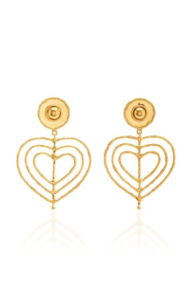 Valentine Gold-Plated Heart Earrings
