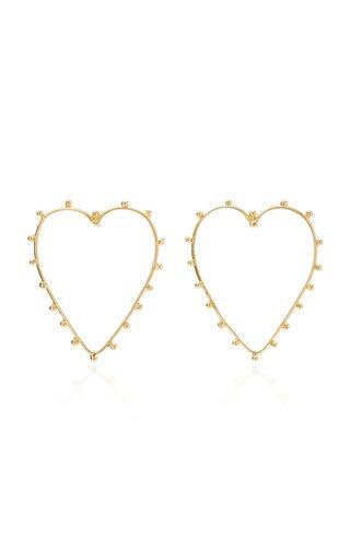 Dots Cœur Gold-Plated Earrings