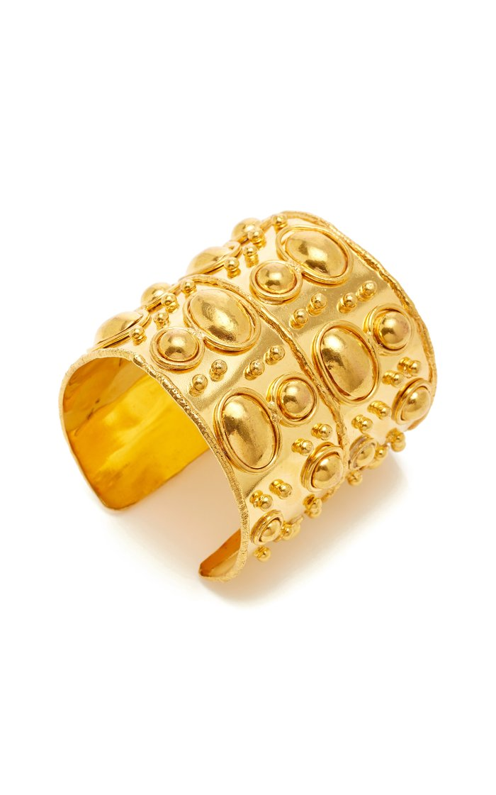 Manchette and Byzance Gold-Plated Wide Cuff