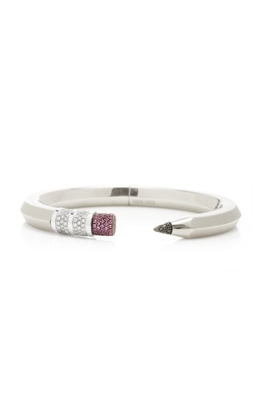 18K White Gold Pencil Bracelet