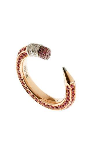 18K Rose Gold & Ruby Pencil Ring