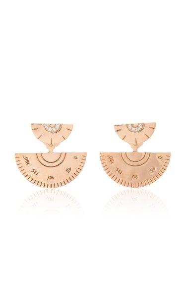 18K Rose Gold Contractor Earrings