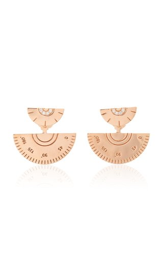 18K Rose Gold Contractor Earrings