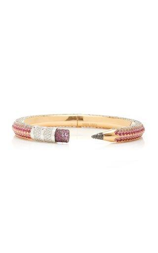 18K Rose & White Gold Pencil Bracelet