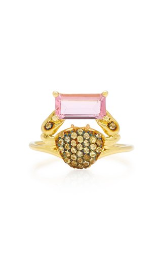 Cosquilleo 18K Gold, Tourmaline and Sapphire Ring