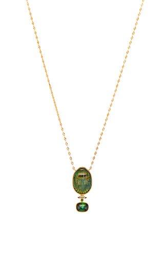 Labradorite Scarab Necklace
