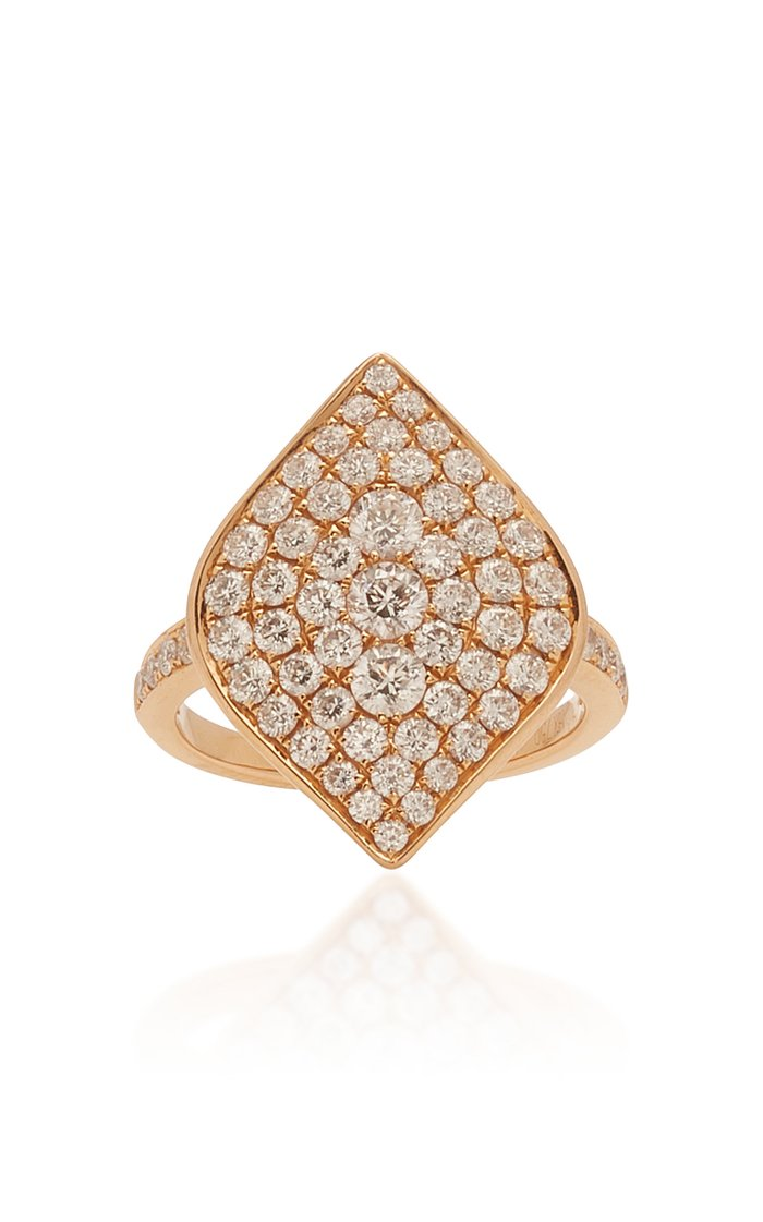 Pave Marquis Diamond Ring