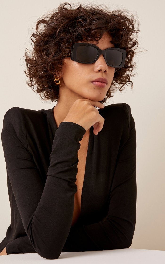 Medusa Square-Frame Acetate Sunglasses