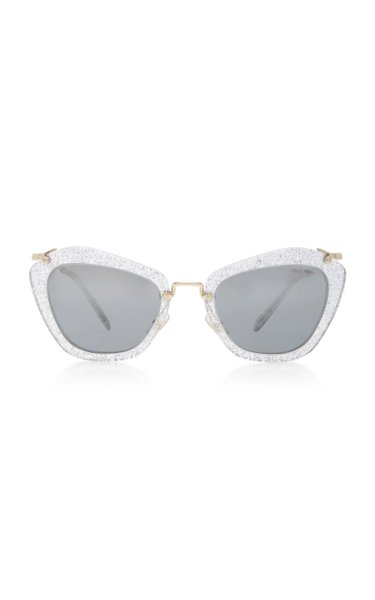 Cat-Eye Glittered Sunglasses