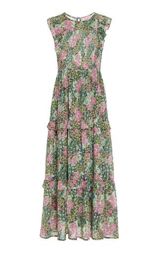 Iris Smocked Cotton Midi Dress