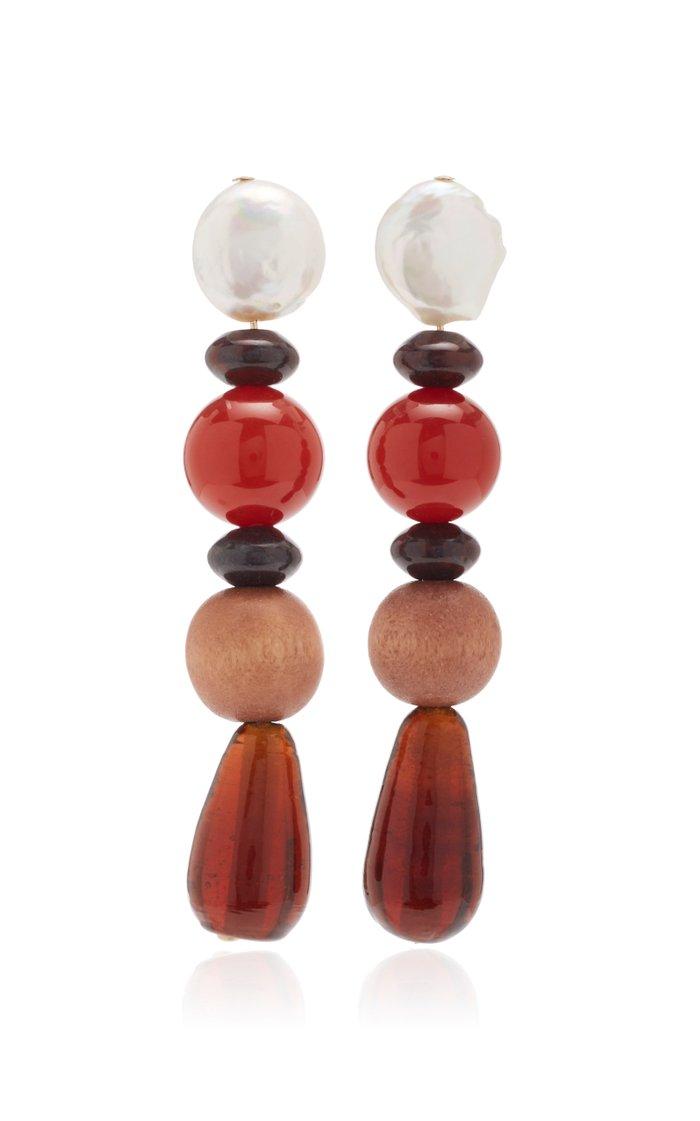 Blood Orange Drop Earrings