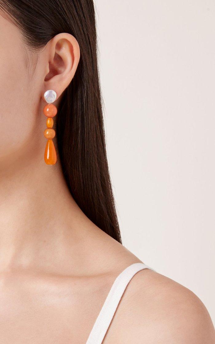 M'O Exclusive Tangerine Drop Earrings