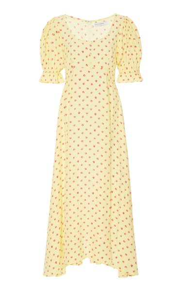 Linnie Floral-Print Crepe Midi Dress