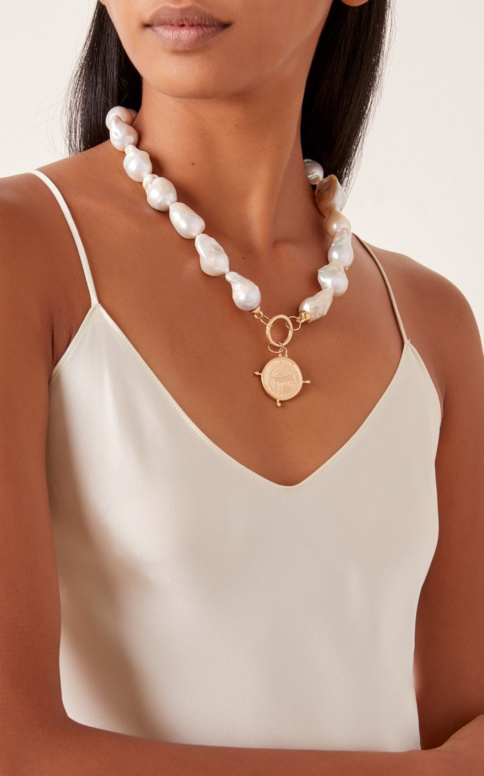 Baroque Pearl & Coin Choker