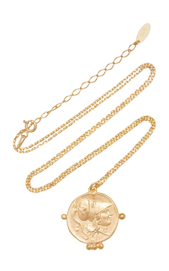 Pegasus Coin Gold-Plated Necklace