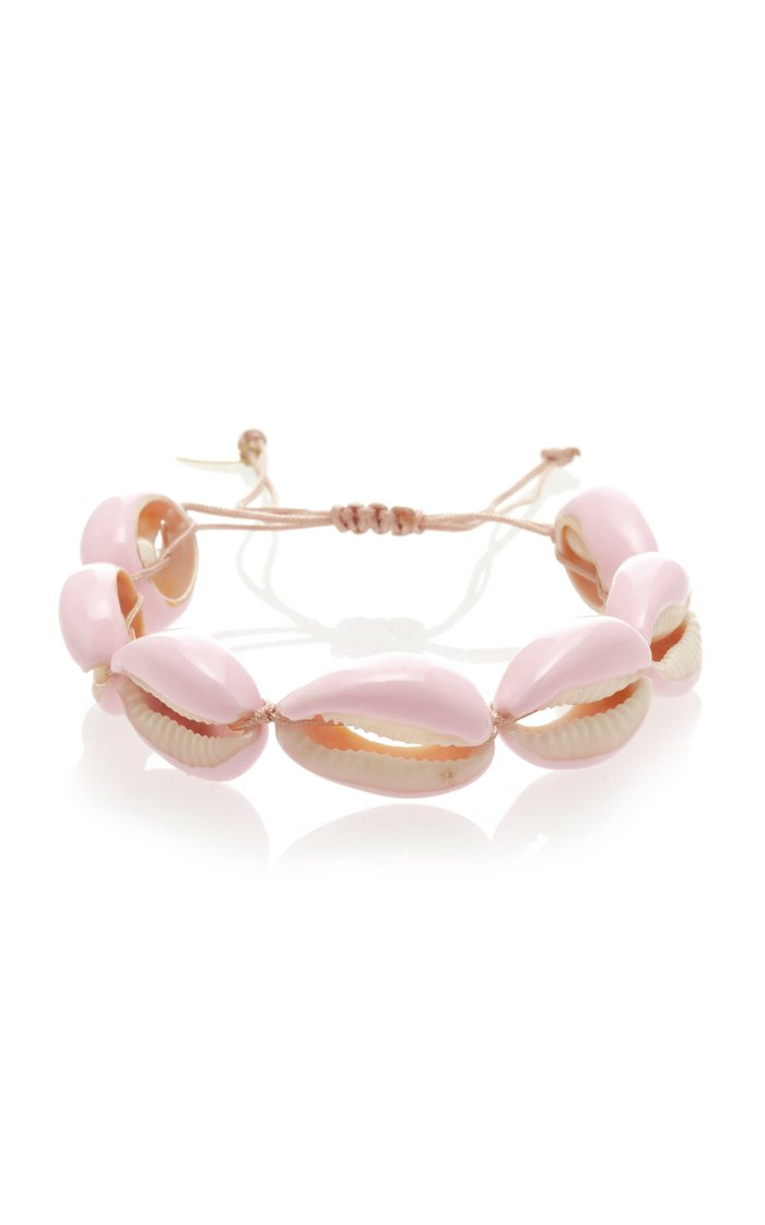 Shell And Macrame Bracelet