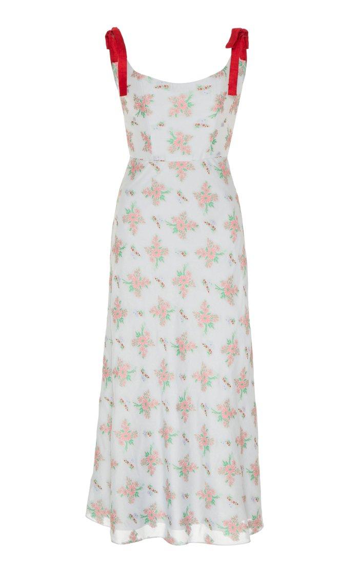 Shylock Floral-Print Crepe Midi Dress