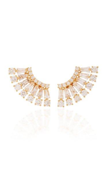 Ava 18K Gold Diamond Earrings