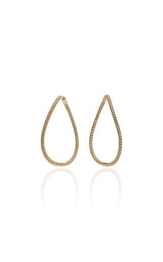 Twisted 18K Gold Diamond Earrings