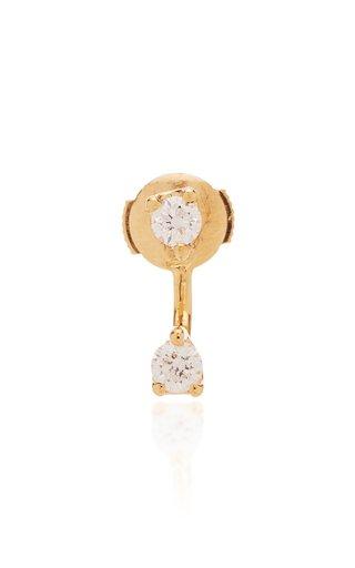 Orbit 18K Gold Diamond Single Earring