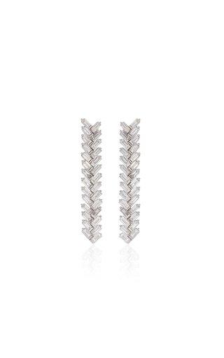Twiggy 18k White Gold Diamond Earrings