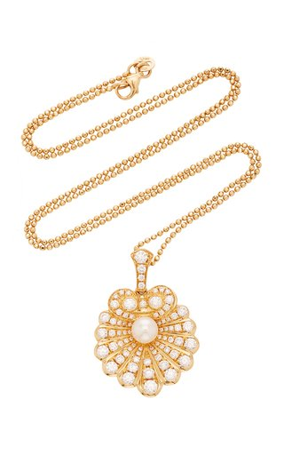 Oyster 18K Gold, Diamond and Pearl Necklace