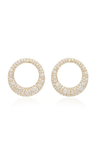 Galaxy Small 18K Gold Diamond Earrings