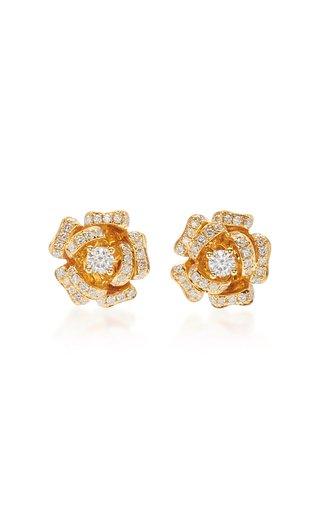 Rose 18K Gold Diamond Earrings