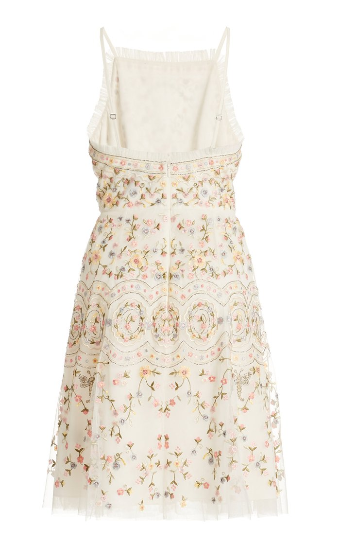 Sweet Petal Embroidered Mini Dress