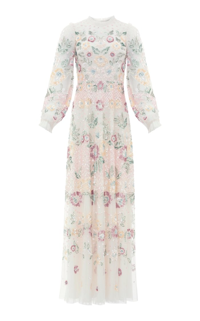 Rosalie Sequin-Embellished Tulle Gown