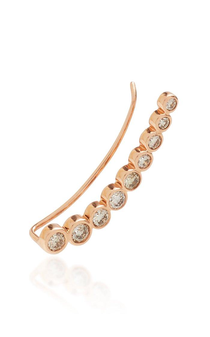 Cinderella 18K Rose Gold And Diamond Earring