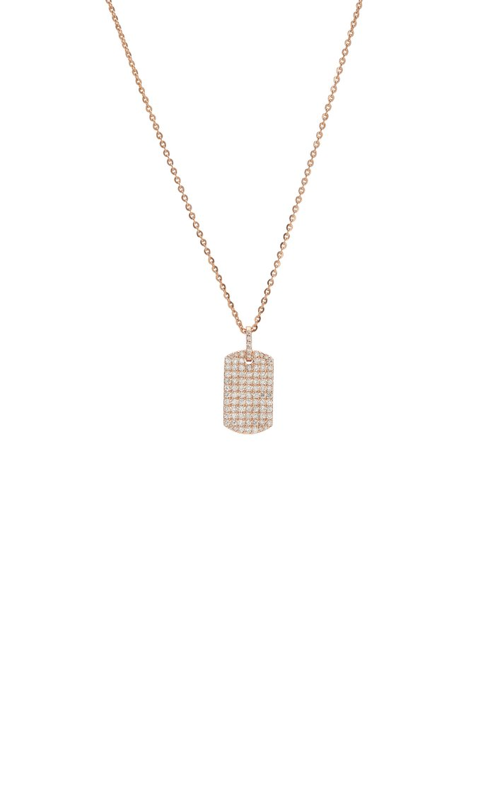 18K Rose Gold And Diamond Necklace