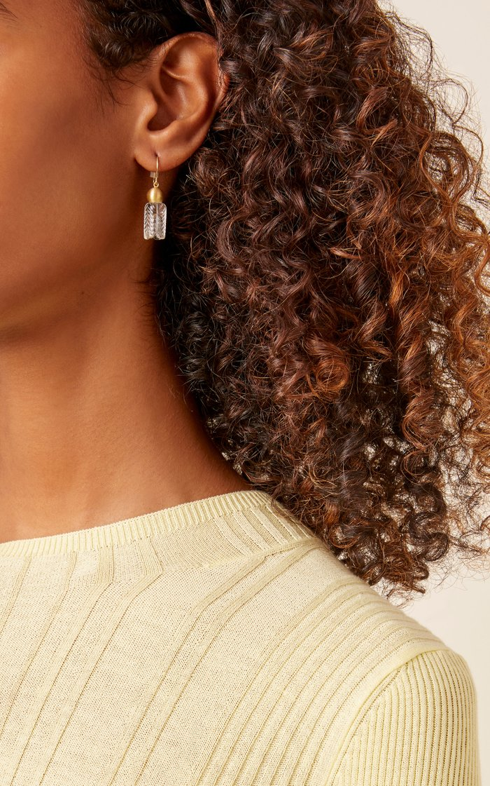 Buoy 18K Gold Quartz Earrings