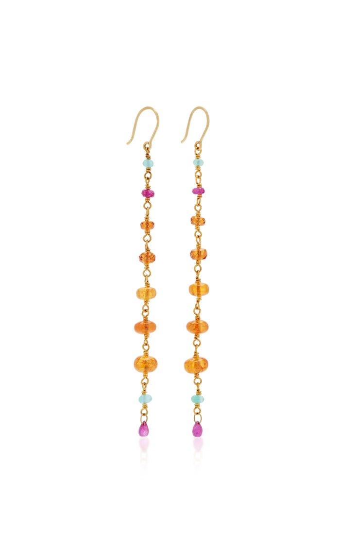 Spun Sugar 18K Gold Multi-Stone Earrings