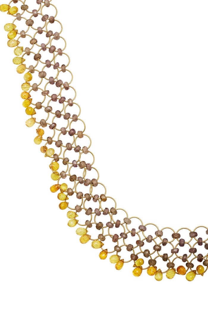 Kaleidoscope 18K Gold, Spinel and Sapphire Necklace